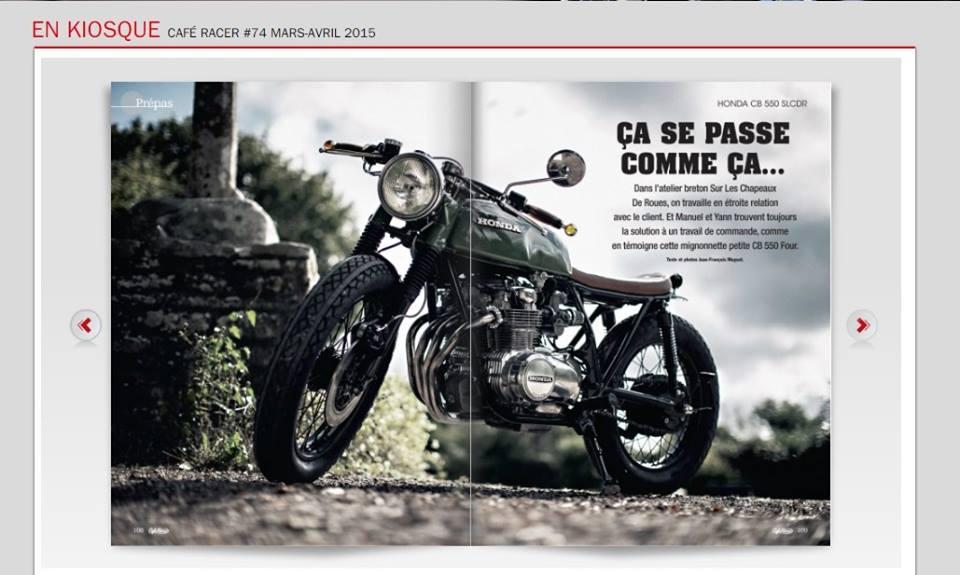 Magazine Cafe Racer numéro 74 mars-avril 2015